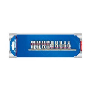 King tony DOUILLES 1/4 IMPERIALES (pouces) 6 PANS SUR RAIL -