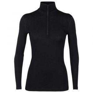 Icebreaker Vêtements intérieurs 200 Oasis L/s Half Zip - Black - Taille M