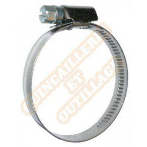 Serflex Collier inox crémaillère emboutie bande pleine 9mm Ø25 à 40