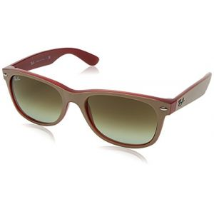 Ray-Ban New wayfarer color mix Sunglasses Verres: Vert, Monture: Marron clair - RB2132 6307A6 55-18