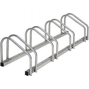 TecTake Râtelier range-vélo pour vélos | en acier revêtu - diverses modèles - (pour 4 Vélos | no. 402378)