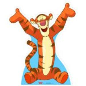 Figurine en carton taille réelle Winnie l'Ourson ou Tigrou