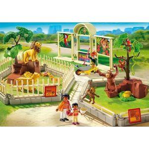 Playmobil 5969 City Life - Zoo Avec Famille De Lions Et Singes