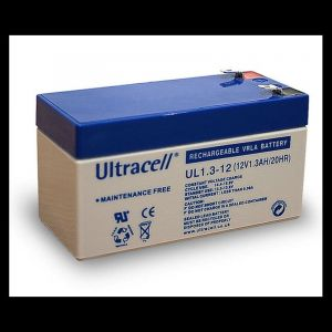 Wentronic Batterie au plomb Ultracell 12 V 1,3 Ah Faston 187-4,8 mm (Import Allemagne)