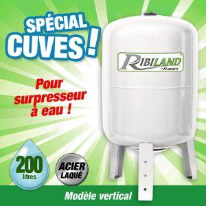 Ribimex Pompe à eau de surface : Cuve verticale pour surpresseurs 200L