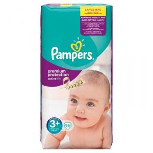 Pampers Active Fit taille 3+ Midi+ 5-10 kg - 58 couches