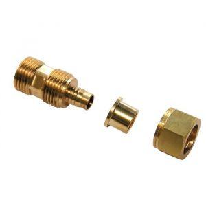 Dipra Raccord mâle fixe 15 / 21 - Diametre 16 (x5) - Raccord PER mâle fixe 15/21 Tube Ø16 - Sachet de 5