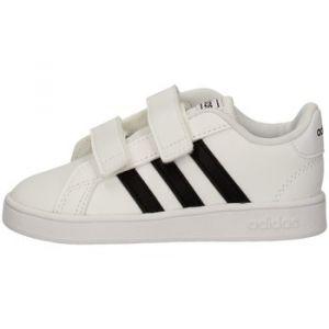 Adidas Grand Court I, Chaussons Mixte bébé, Blanc Negbás/FTW Bla 000, 24 EU
