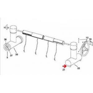 Procopi 1863110 - Patin pour pied fixe d'enrouleur de bâche de piscine Roller