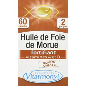 Laboratoires Vitarmonyl Huile de foie de morue fortifiant - 60 capsules