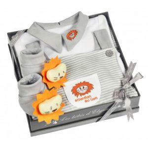 Les bébés d'Elyséa Coffret cadeau avec motif Lion