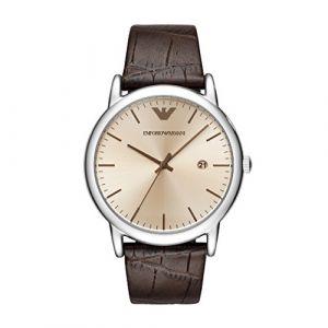 Emporio Armani AR11096 - Montre pour homme avec bracelet en cuir