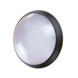 Ebénoid Hublot extérieur fluo 1X9W Ø 300mm noir verre avec lampe 4000K 2G7 et ballast elec CL2 IK04 IP44 OPTION 078312