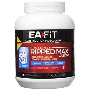 EA Fit Ripped Max Caséine - Prise de Muscle goût fraise 750g