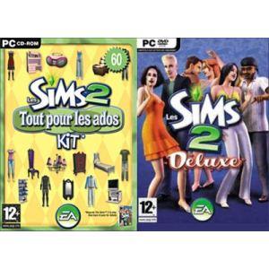 Sims 2 Deluxe + Sims 2 : Kit tout Pour Les Ados - Les sims 2 + Nuits de Folies + Kit tout pour les Ados [PC]