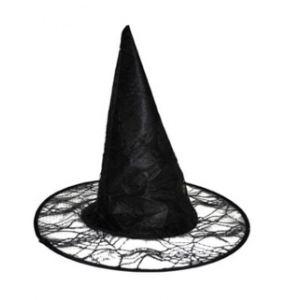 Chapeau sorcière toile araignée adulte Halloween
