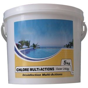 NMP Chlore lent multi-fonctions galet 250g 5kg chlore multi-actions 250