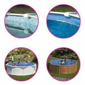 Gre Liner piscine ronde coloris mosaïque de Pool - Ø 350 x h 132 cm