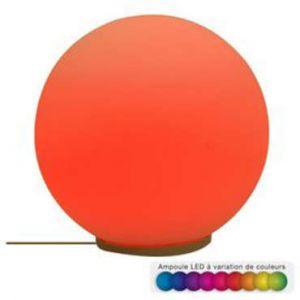 """Boule Décoration Lumineuse LED """"Verre"""" 20cm Multicolore Paris Prix"""""""