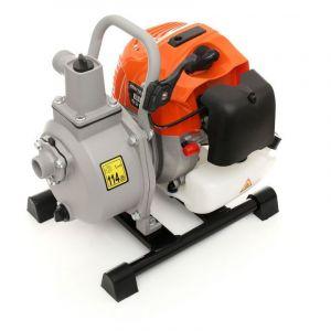 Hucoco DCRAFT   Pompe à eau t rmique débit 300 L/min   Pompe à l'eau claire + chargée + moteur 2 temps   Relevage d'eau Jardinage   Orange Orange