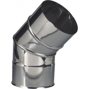 Ten 264125 - Coude 45 2 parties Inox 304 diamètre 125
