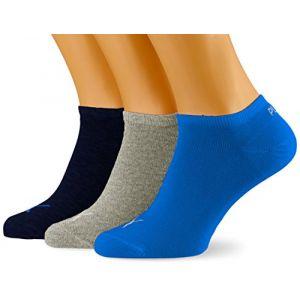 Puma Unisex Sneaker Plain 3P, Chaussettes de sport Femme, Gris (Blue/Grey Mélange 277), 35/38 (Taille fabricant:035) (Lot de 3