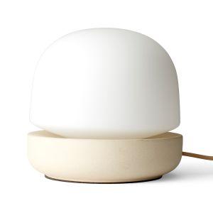 Menu Lampe de table Stone / Céramique - H 19 cm sable,blanc opalin en verre