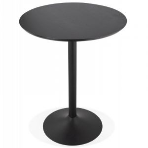 "Table de Bar ""Matera"" 90cm Noir Prix"