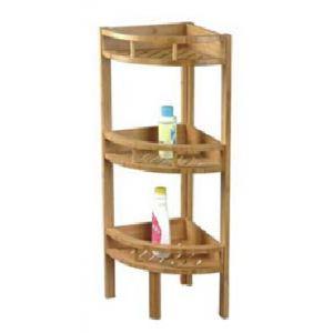 Etagère d'angle 3 niveaux en bambou