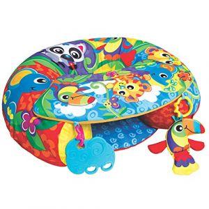 Playgro Coussin d'Activités pour Jouer Assis, À partir de 6 mois, Sit Up and Play Activity Nest, Multicolore, 40192