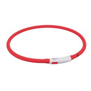 Trixie Flash anneau lumineux usb - XS-XL: 70 cm/ø 10 mm, rouge