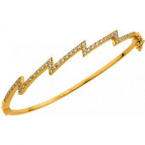 Altesse bijoux 70269000108 - Bracelet Eclair Rigide Serti Femme