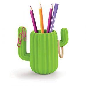 Mustard M16088 Pot à crayons Organiseur magnétique Cactus, Vert, H10,4 x 15,6 x 15 cm