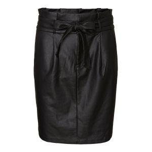 Vero Moda Taille Haute Enduite Jupe Crayon Women black Black - Taille XS