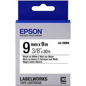 Epson LabelWorks LK-3WBN - Bande d'étiquettes noir sur blanc