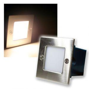 Chilitec Luminaire encastré LED, 230V, plaque frontale inox