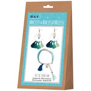 Toga Kit de création de bijoux - Bracelet et boucles d'oreilles Ice