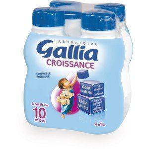 Gallia Lait de Croissance 4 x 500 ml - de 10 à 36 mois