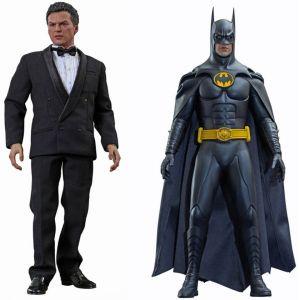Hot Toys Figurine Batman Le Défi : Batman et Bruce Wayne Pack