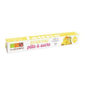 Scrapcooking Rouleau pâte à sucre jaune - 430 g