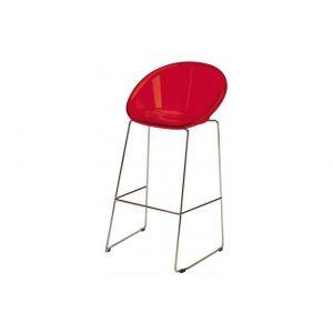 Declikdeco : Tabouret de Bar Design Rouge ELLIE