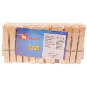 Metaltex 24 pinces à linge en bois