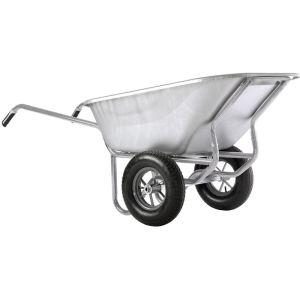 Haemmerlin 306455701 - Brouette Expert Twin tout galva roues gonflées 230 L