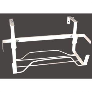 LG Support jardinière extensible en métal blanc 44 à 65 cm