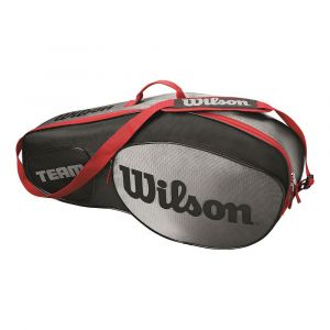 Wilson Sac de Tennis Unisexe Pour les joueurs de tous niveaux Team III 3 PK Taille Unique Noir/Gris WRZ853803