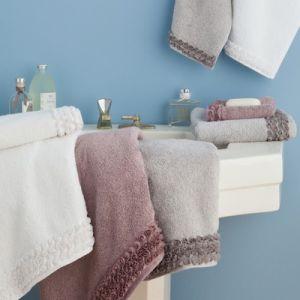 Harmony Les Roses - Drap de bain en coton (70 x 130 cm)