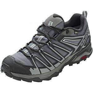 Salomon X Ultra 3 Prime GTX, Chaussures de Randonnée Basses Homme, Multicolore (Magnet/Black/Quiet Shade 000), 42 2/3 EU