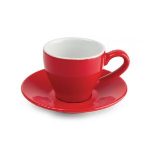 Olympia Tasse à espresso 100ml rouge - Lot de 12