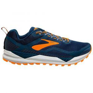 Brooks Cascadia 14, Chaussure de Course Homme, Poseidon Orange Grey, 42 EU