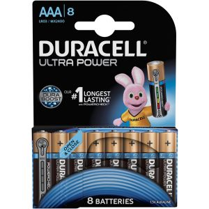 Duracell Pile 1,5v LR03 AA Ultra Power- Blister de 8